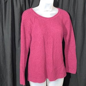 Sonoma fushia knit sweater
